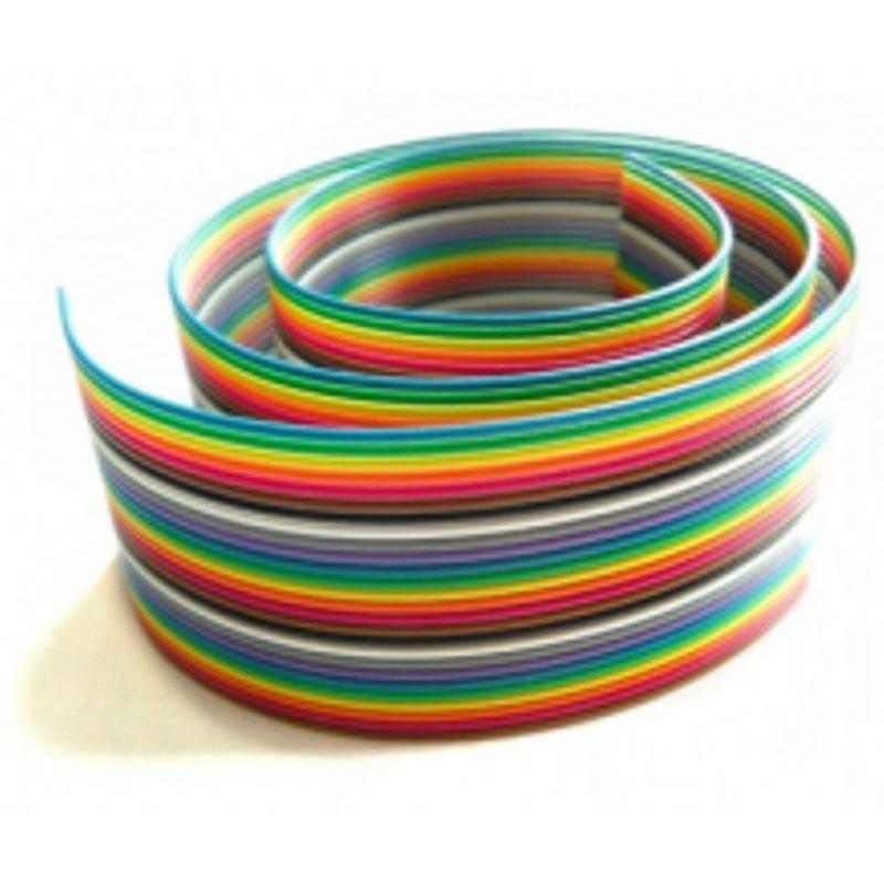 کابل فلت رنگی 16 رشته