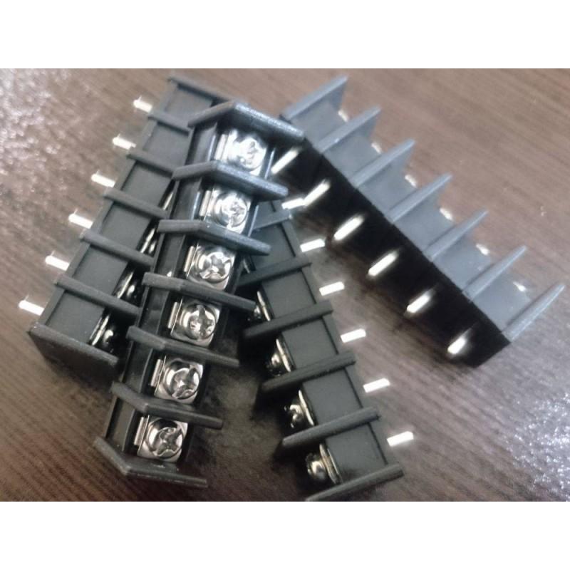 ترمینال پیچی DG35 - مشکی - 6 پایه - صاف