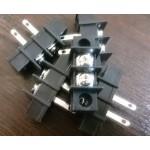 ترمینال پیچی DG45 - مشکی - 2 پایه - صاف