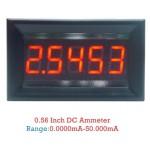 ماژول آمپرمتر  پانلی DC با 5 رقم 0 تا 50 میلی آمپر
