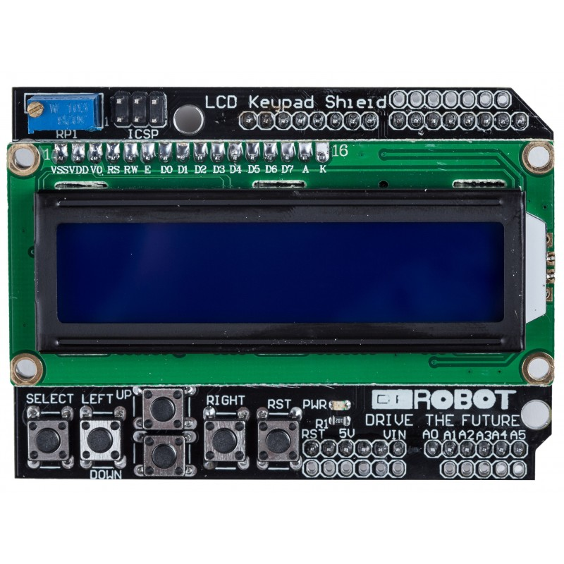 LCD KeyPad Shield Blue