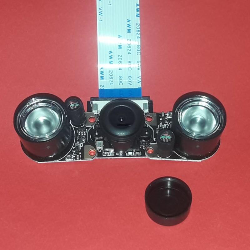 ماژول دوربین 5 مگا پیکسل دید در شب OV5647 مجهز به تابشگر مادون قرمز مناسب برای برد رسپبری پای