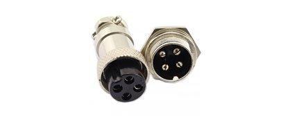 کانکتورهای فلزی گرد GX12