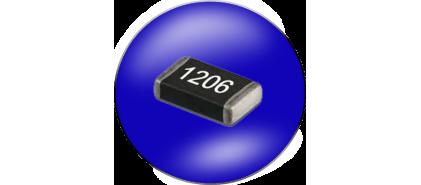 مقاومت SMD سایز 1206 خطا 1%
